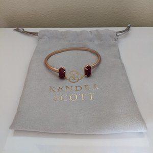 Kendra Scott - Edie Bracelet - Rose Gold & Maroon